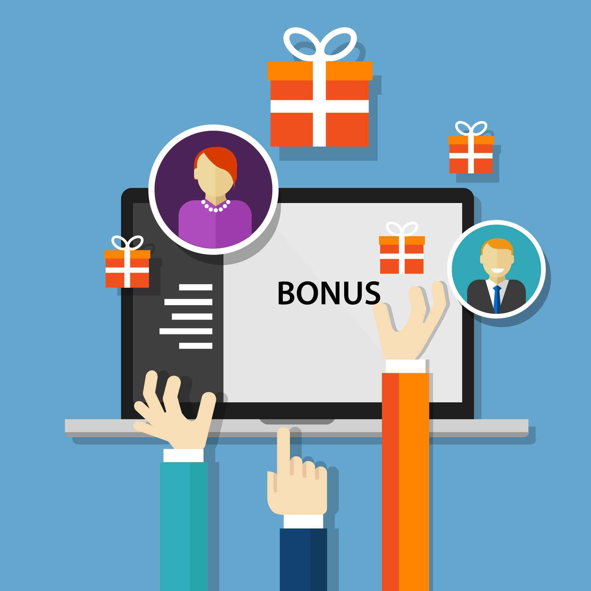 48741225 - bonus employee reward  benefits promotion offer vector